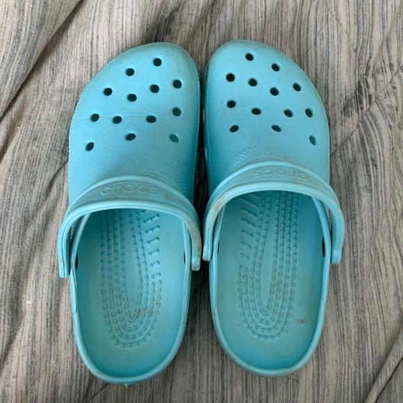 CROCS Shoes   Light Blue Crocs   Poshmark